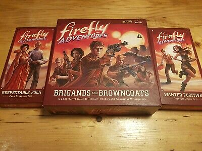 Firefly Adventures Miniatures Board Game Brigands And Brown Coats + 2 Expantions • 40£