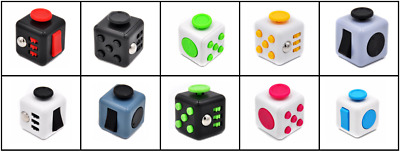 Fidget Cube Spinner Toy Children Desk Adults Stress Pressure Relief Cubes UK • 3.99£
