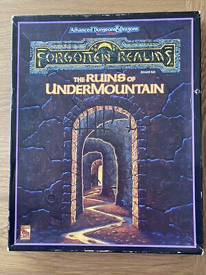 TSR Adv Dungeons & Dragons 2nd Ed F/realms The Ruins Of Undermountain 1060 Boxed • 30£