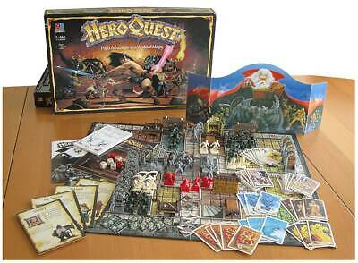 Heroquest Board Game Complete UNPAINTED Includes Two UNPAINTED Expansions • 160£