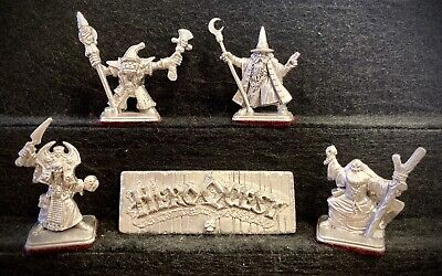 4x HEROQUEST Metal Game Piece Replacements: WIZARDS OF MORCAR Mage Shaman Storm • 49.99£