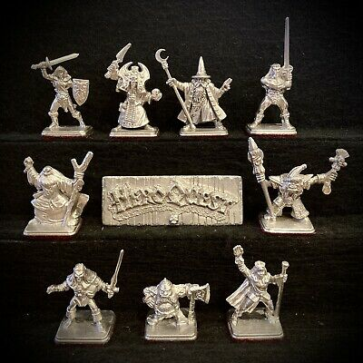 9x HEROQUEST Metal Game Piece Replacements: Heroes Female Barbarian Wizards GSP • 99.97£