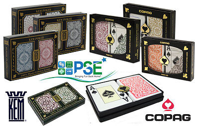 Kem Arrow Black Gold Red Blue Copag 1546 Playing Cards 100% Plastic Poker Jumbo • 19.95£
