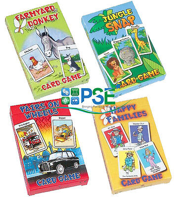 Childrens Kids Card Games Traditional Happy Families Jungle Snap Farmyard Donkey • 7.20£