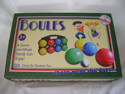 New Boules Set With Eight Balls One Jack & Black Carry Case Ack • 6.59£