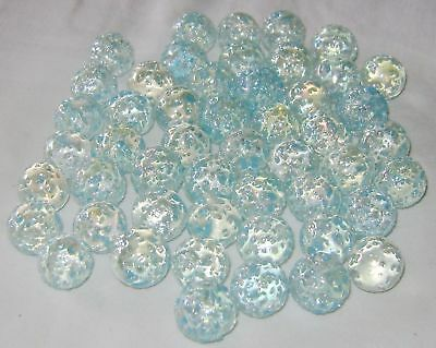 NEW 50 SNOWFLAKE 14mm GLASS MARBLES TRADITIONAL COLLECTORS ITEMS • 4.39£