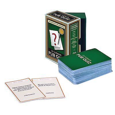Ultimate Pub Quiz Cards Questions Trivia Party Games Novelty Fun Family • 6.60£