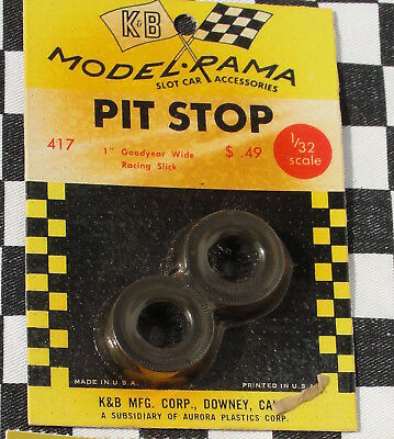 Modelrama Pair Of Tyres 1  Goodyear Wide Racing Slick  New Old Stock • 3.99£