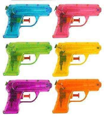 Small Water Gun Pink Orange Green Yellow 11cm Kids Outdoor Party Toy Gift • 4.49£