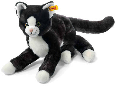 Steiff 'Mimmi' Kitten Cat - Soft Cuddly Washable Black Plush Soft Toy - 099366 • 72.99£