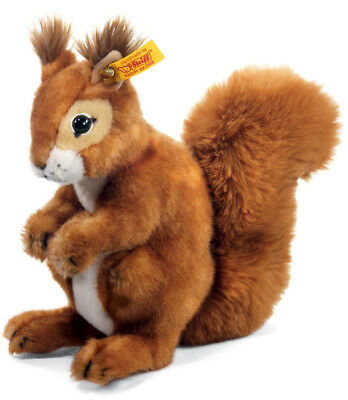 Steiff 'Niki' Squirrel - Classic Plush Washable Soft Toy - 21cm - 045141 • 53.99£