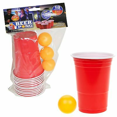 18 Piece Beer Pong Set Adult Drinking Game - Over 18's - Christmas Gift • 5.50£