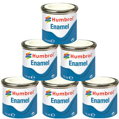 Humbrol Enamel Model Paint 14ml Gloss Metallic Satin Matt All Colours & Shades  • 4.95£
