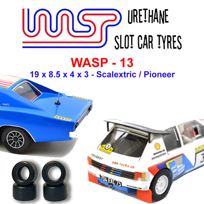 Urethane Slot Car Tyres X 4 Wasp 13 19 X 8.5 X 4 X 3 Pioneer And Scalextric • 6£