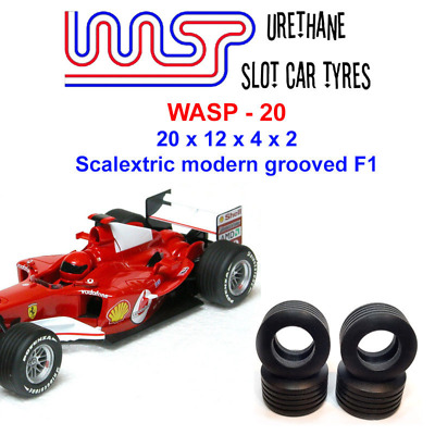 Urethane Slot Car Tyres X 4 Wasp 20 Scalextric F1 2000s Grooved • 6£