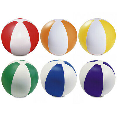 6 X Inflatable Blowup Colour Panel Beach Balls Holiday Party Swimming Garden Toy • 5.49£