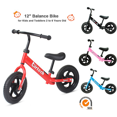 Kids Balance Bike Running Walking Training Bicycle Kids Gift Adjustable Seat UK • 23.90£