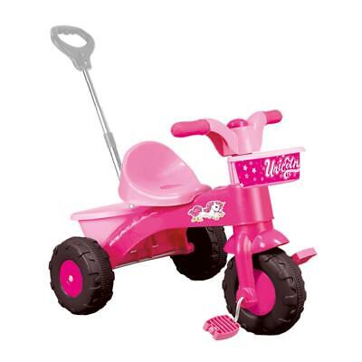 Dolu Unicorn Kids Girls My First Trike Ride On With Parent Handle - Pink 2504 • 34.49£