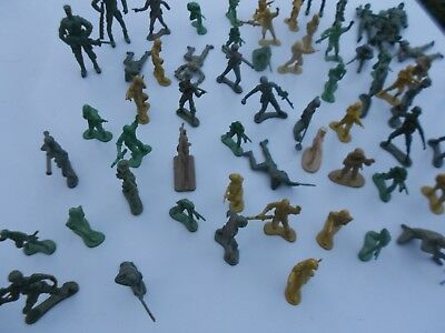 Plastic Soldiers Mixed Lot - Approx 80 + 15 Army Vehicles Etc • 13.99£