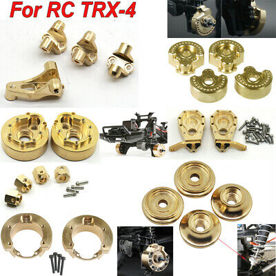 Heavy Brass Servo Mount Wheel Knuckle Hex Weight Hubs For 1/10 RC Traxxas TRX-4 • 29.18£