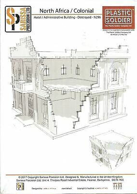 Sarissa Precision 20mm North African / Colonial Admin Building / Hotel Destroyed • 18£