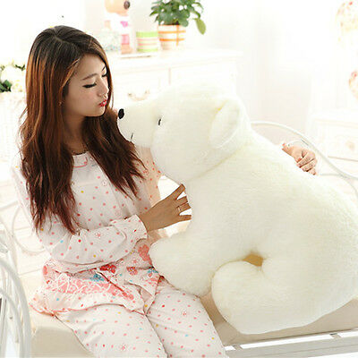 Giant Large Big Plush Polar Bear 60cm Doll Teddy Stuffed Soft Plush Pillow  • 33.89£