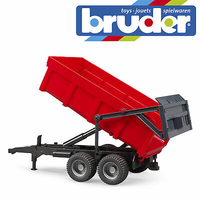 Bruder Tractor Tipping Trailer Red Kids Farm Childrens Toy Model Scale 1:16 • 21.99£