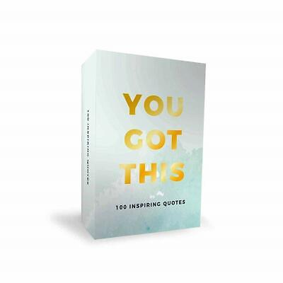 100 You Got This Inspirational Quotes Cards Positive Affirmation Inspiring Gift • 7.97£