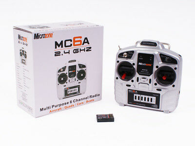 Microzone MC6A 2.4GHz 6 Channel Radio Control RC Transmitter And Receiver Set • 49.99£