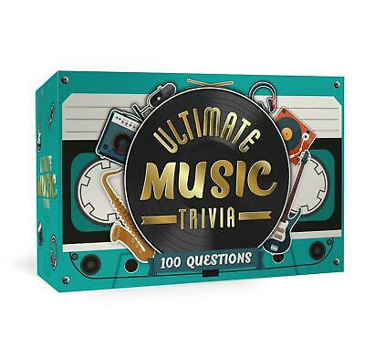 Ultimate Music Trivia Card Game Party Game Question Quiz Night Novelty Gift • 6.60£