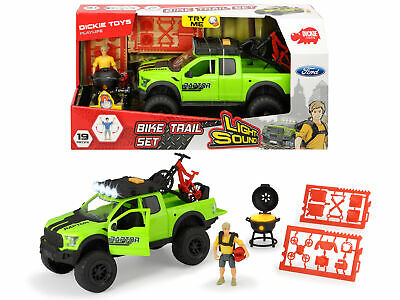 Dickie Toys Playlife Bike Trail Set With 4x4 Pick-up Lights & Sound 19pcs Age 3+ • 21.07£