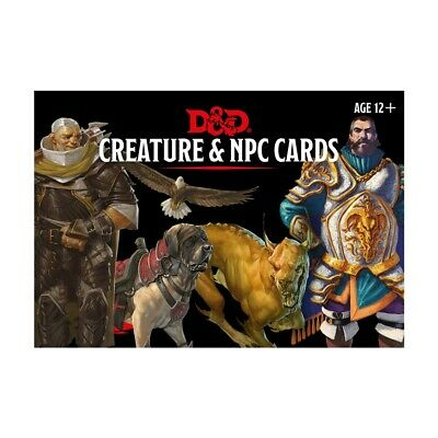 Dungeons & Dragons Creature & NPC Cards 5th Edition • 13.50£