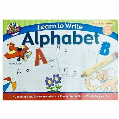 A4 Kids Learn To Write Alphabet Handwriting Practice Book Pad Pre School Infants • 2.75£