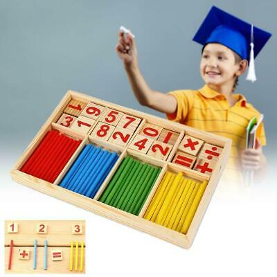 UK Wooden Math Counting Blocks Sticks Educational Learning Abacus Kids Toys Gift • 4.95£