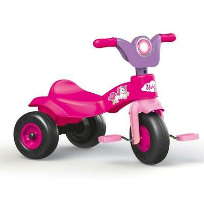 Dolu Unicorn Trike Kids Girls Pedal Operated Tricycle Outdoor Ride On Toy PINK • 19.99£