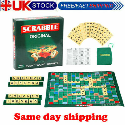 Family Scrabble Game Kids Adult Educational Learning Party Game Board • 9.99£