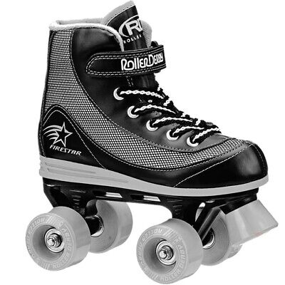 RD Firestar Black Grey V2 Adults/Childrens Quad Roller Skates • 32.95£