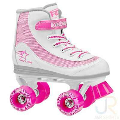 RD Firestar Adult/Childrens White Pink V2 Quad Roller Skates • 32.95£