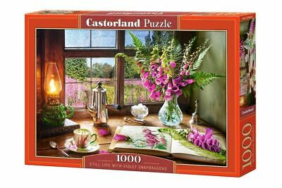 Castorland 1000 Piece Jigsaw Puzzle Still Life With Violet Snapdragons • 8.98£