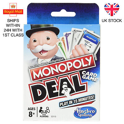 Monopoly Deal Monopoly Brand Deal Card Game Brand New UK Stock • 8.98£