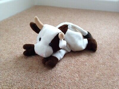 Beanpets Cow Beanie Toy • 2£