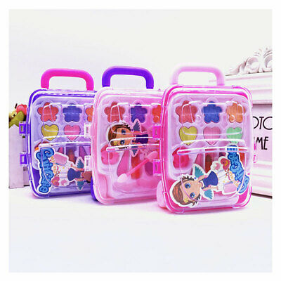 1PCS Safe Nontoxic Children's Cosmetics Princess Makeup Box Trolley Case Shape • 3.73£