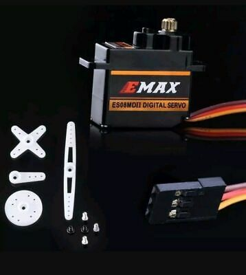 EMAX ES08MD II  Metal Gear Digital Micro Servo For Align Trex 450/250 And More • 8.75£