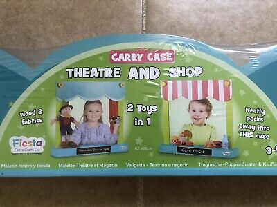Theatre And Shop In Carry Case By Fiesta Crafts • 29.99£