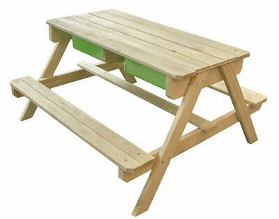 Outdoor Picnic Bench Sand Pit & Water Table Garden Furniture Childrens Kids Play • 74.99£