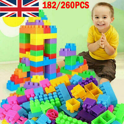 Children Kids DIY Plastic Creative Game Bricks Building Blocks Educational Toys • 12.02£