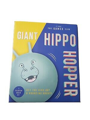 Giant Hippo Space Hopper Ball With Pump Sprungball 6yrs+ Outdoor Exercise  • 14.99£