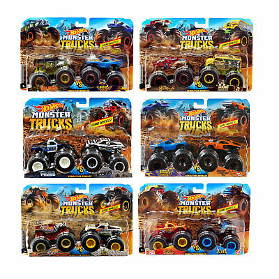 Hot Wheels Monster Trucks 1:64 Demolition Doubles 2-Pack *Choose Your Favourite • 12.99£