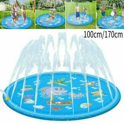 100/170CM Inflatable Sprinkler Splash Pad Play Mat Water Toys For Kids Outdoor • 13.34£