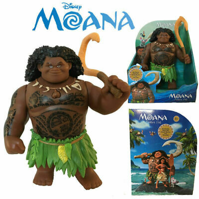 Singing Moana Friends Maui Action Figures Doll Light Movie Song Kids Toys • 15.99£